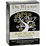 Dr. Woods Bar Soap Raw Black - 5.25 oz - (Pack of 3)