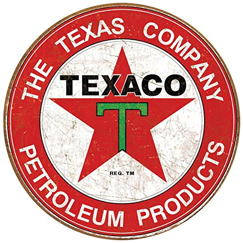 texaco-plaque-publicitaire-metal-ronde-texaco-rouge-texas