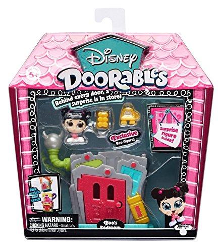 Doorables 34998 Monster AG Disney Mini Spiel Set Boo's Schlafzimmer, Spielset mit Gebäude mit Türchen, 2 Spielfiguren mit Glitzeraugen und Zubehör, Spielzeug zum Sammeln für Kinder ab 5 Jahre, bunt
