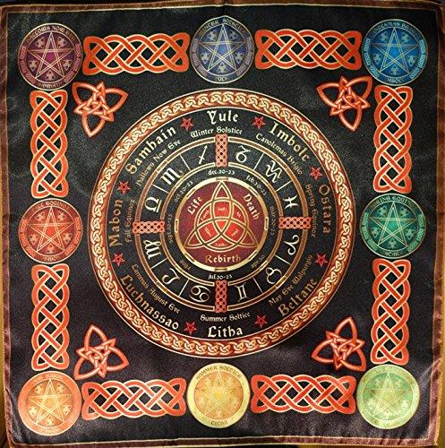 Tischdecke Cape Ritual Rad des Jahres Kalender klein (Wicca-kalender)