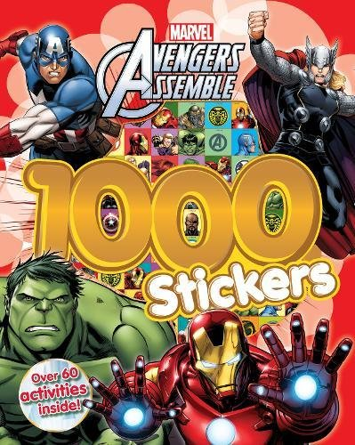 Book's Cover of Marvel Avengers Assemble 1000 Stickers Over 60 activities inside