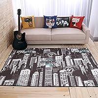 HDWN Stile europeo grande tappeto camera da letto soggiorno tavolino divano mat non - pad antiscivolo stuoie cuscino , city fantasy , 160*230cm