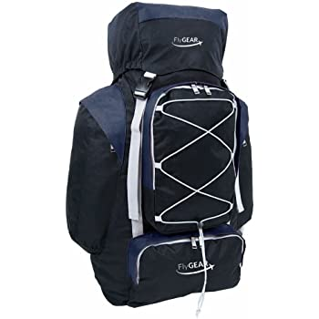 Large Camping Hiking Travel Holiday Rucksack Backpack Luggage Bag (Black  Navy) ee6141c62a45a