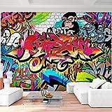 Papel Pintado Fotográfico Muro de graffiti 352 x 250 cm Tipo Fleece no-trenzado Salón Dormitorio Despacho Pasillo Decoración murales decoración de paredes moderna - 100% FABRICADO EN ALEMANIA - 9065011a