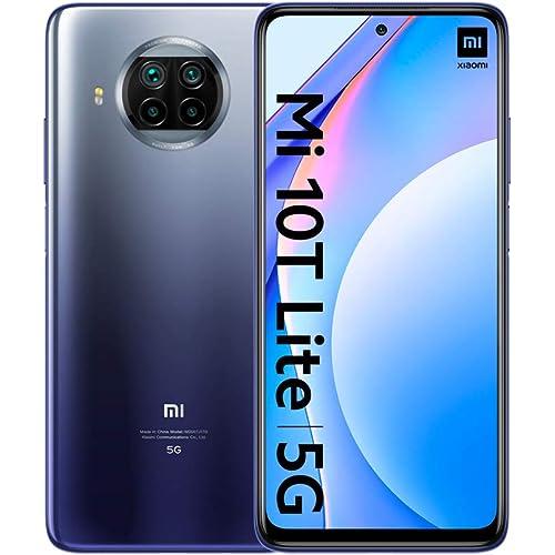 "Xiaomi Mi 10T Lite - Smartphone 6 + 64GB, DotDisplay 6,67 ""FHD + , Snapdragon 750G, Quad Camera 64MP, Batteria 4820mAh, Atlantic Blue (Versione Ufficiale + 2 Anni di Garanzia)"
