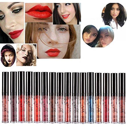 Hosaire 16 colores impermeable mate brillo de labios pintalabios maquillaje líquido Pintalabios belleza brillo de labios