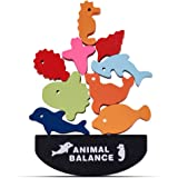Baybee Wooden Animal Balancing Game for Kids, Wooden Building Blocks Stacking Baby Toys for Kids, Montessori Toys, Kids Toys
