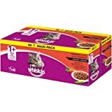 Whiskas Katzen-/Nassfutter Adult 1+ Klassische Auswahl in Sauce, (40 x 100g)