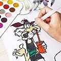 Wasserpinsel Set Wasser Pinsel Stift 6 Stück, Aquarell Pinsel Mit Wassertank, Water Brush Pen Set mit Tray Mischpalette, Wasserpinsel mit Tank für Aquarell Malen Aquarellmalerei Akrylfarb von Cuckool - TapetenShop