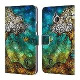 Head Case Designs Offizielle Mandie Manzano Lebensbaum Natur Brieftasche Handyhülle aus Leder für Microsoft Lumia 640 XL/Dual SIM