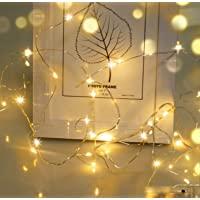 LED Fairy Lights,Cshare Battery Operated String Lights 20 LEDs 2m/6.56ft 8 Modes Copper Wire Light IP65 Waterproof for…