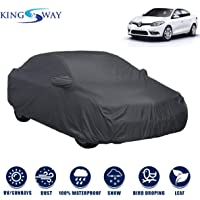 Kingsway Dust Proof Car Body Cover with Mirror Pockets for Renault Fluence (Model Year : 2012 Onwards) (Grey Matty…