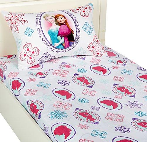 Faux Twin-set (Disney Frozen Springtime Faux Mink Fleece Decke, Multi, Twin Sheet Set)
