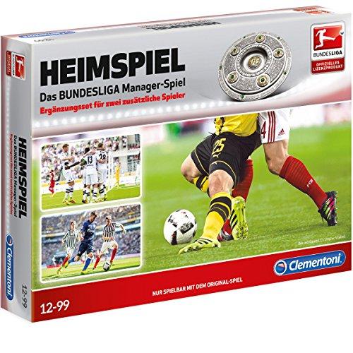 Preisvergleich Produktbild Heimspiel Ergänzungsset, für bis zu sechs Spieler, ab 12 - Clementoni Heimspiel Das Große Bundesliga Managerspiel Ergänzungs Set Lern Spiel