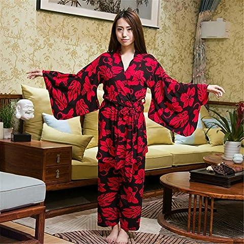 BBDM Pigiama per Ladies Home Set 3 colore fuori la veste , figure color , f