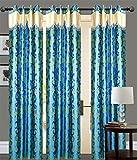 BLUE FLOWER Door curtains setof 3 pc