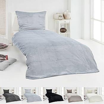 celinatex minka bettw sche set 4tlg 155x220 warme kuschelig flauschige winter garnitur longhair. Black Bedroom Furniture Sets. Home Design Ideas