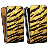 DeinDesign Apple iPhone 3Gs Étui Étui à rabat Étui magnétique Fourrure de tigre