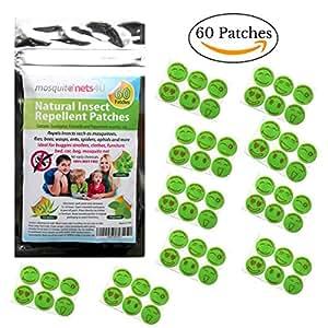 patchs anti moustiques 60 adh sifs insecticides huiles essentielles de menthe eucalyptus et. Black Bedroom Furniture Sets. Home Design Ideas