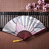 WYYWCY Fan della Mano bambù Topolino Ballerina Danza con Cornice di bambù Ciondolo con Nappa e Borsa di Stoffa Decorazione Cinese a ventaglio Ventagli Cinesi economici Ventaglio di bambù Cinese
