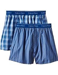 Calvin Klein Men's Pack of 2 Woven Boxer Shorts
