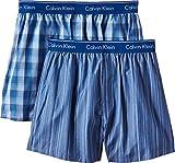 Calvin Klein Herren Boxershort WOVEN BOXER - 2P TRAD FIT BOXER, Mehrfarbig (Lark Plaid Atalntis - Gallagh Lgw), Small