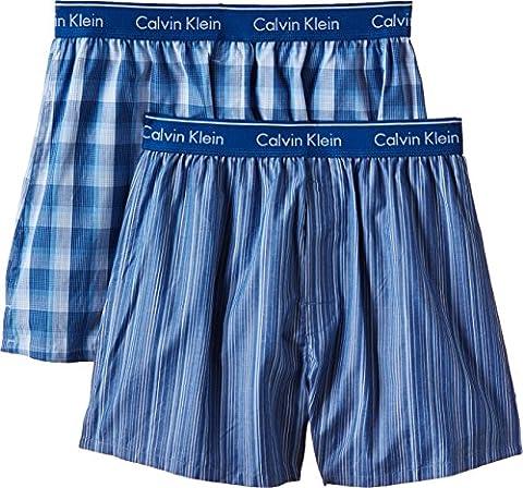 Calvin Klein Herren Boxershort WOVEN BOXER - 2P TRAD FIT BOXER Gr. Medium (Herstellergröße: M) Mehrfarbig (LARK PLAID ATALNTIS - GALLAGH LGW)