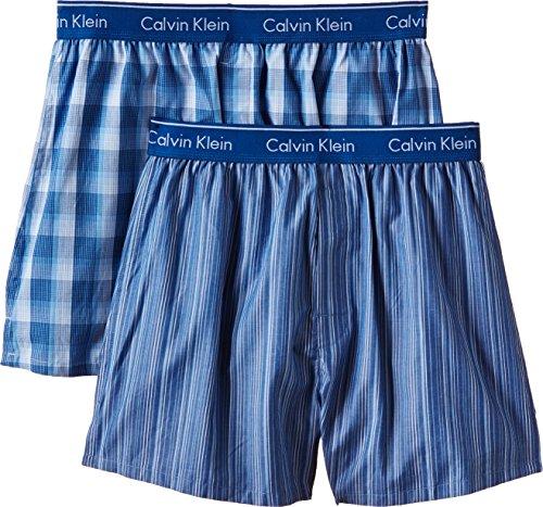 Calvin Klein Herren Boxershort WOVEN BOXER - 2P TRAD FIT BOXER, Mehrfarbig (Lark Plaid Atalntis - Gallagh Lgw), X-Large (Calvin Klein-unterwäsche Männer Boxer)