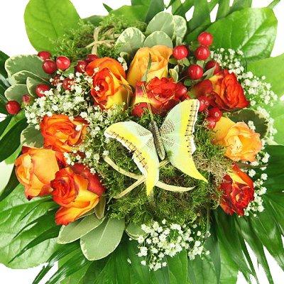 Blumenstrauß – Schmetterling – Kreative Geschenkidee z.B. zum Geburtstag