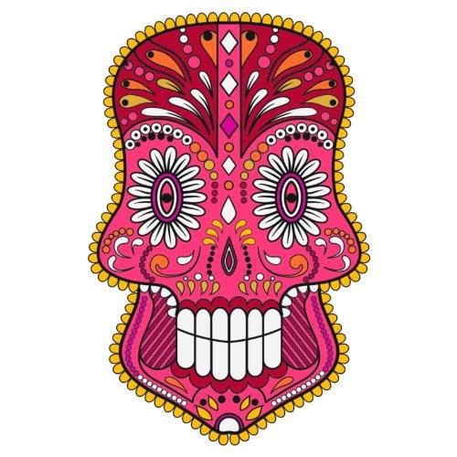 T-Shirt - Matey Skull 23 - Totenkopf - Sugar Skull - Herren - unisex Weiß