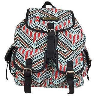 Anna Smith (LYDC) Aztekisch Artec Rucksack / Damen-Mädchen-Designer Leinwand Rucksackhandtaschen / Umhängetasche (Aztekisch Blau)