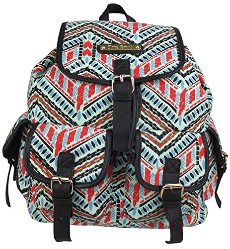 Anna Smith par LYDC dames Retro Aztec Imprimer Sac à dos (Aztèque Bleu - Grand) Aztèque Bleu - Grand