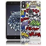 bq Aquaris X5 Plus Passend Comic Haha Handy-Hülle Silikon - staubdicht, stoßfest & leicht - Smartphone-Case