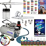 Best Master Airbrush Airbrush Paints - Master Airbrush Multi-Purpose Airbrushing System with 2 Airbrushes Review