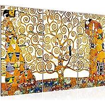 5fa83cc3c975 Photo Gustav Klimt - Tree of Life Décoration Murale 120 x 80 cm Toison -  Toile