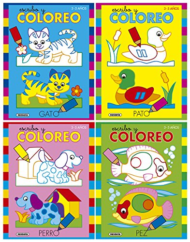 Escribo y coloreo (4 títulos) por Jordi Busquets