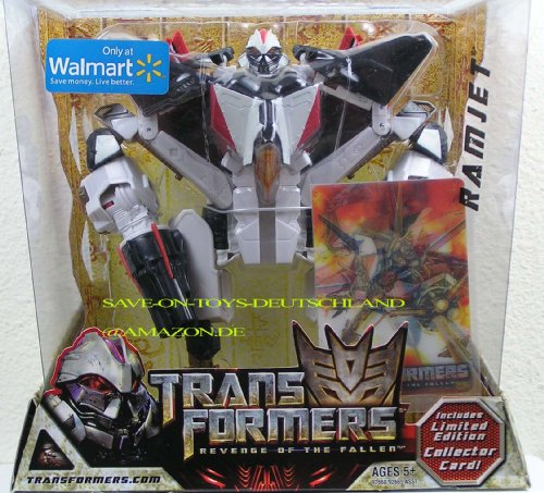 TRANSFORMERS Movie 2 - REVENGE OF THE FALLEN - Walmart Exclusive - Voyager Class - RAMJET - incl. Limited Edition Collector 3D Karte - OVP - Walmart-e-karte