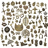80PCS Jewelry Making Charms Mixed Charms Pendant DIY for Jewelry Finding and Crafting