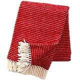 Klippan Ralph Decken und Plaids, klassisch, rot, 200x 130x 0,5cm
