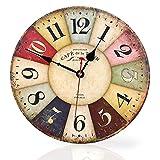 Soledi Horloge Murale Silencieuse 11.8in (Café Noir)