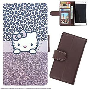 DooDa - For Micromax Canvas Turbo A250 PU Leather Designer Fashionable Fancy Wallet Flip Case Cover Pouch With Card, ID & Cash Slots And Smooth Inner Velvet With Strong Magnetic Lock
