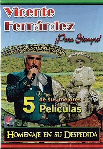 """Bild von VICENTE FERNANDEZ """"PARA SIEMPRE EL ORGULLO DE MEXICO"""" (5 DE SUS MEJORES PELICULAS) 1.-EL COYOTE Y LA BRONCA 2.-COMO MEXICO NO HAY DOS 3.-EL CUATRERO 4.-EL TAHUR 5.- DIOS LOS CRIA."""