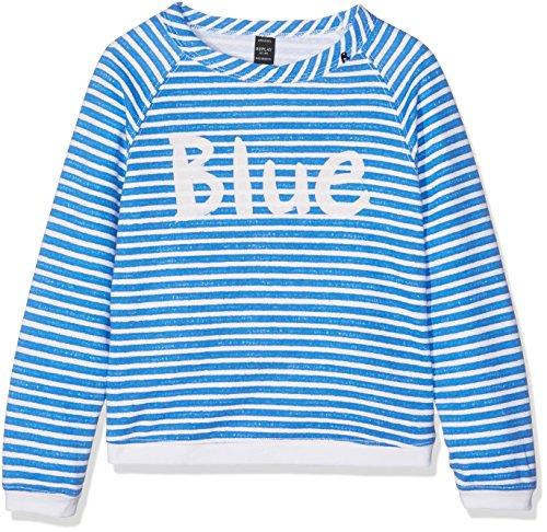 Replay Sg2069.050.29868e, Felpa Bambina, Multicolore (Striped White/Blue), 164 (Taglia Produttore: 14A)