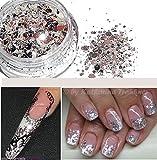 2,5 g Glitterpuder-Rautenpailettenmix in Sterling-Silber, funkelnd. Mit Fäden