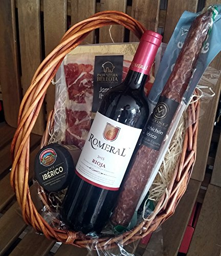 Geschenkkorb, Präsentkorb Spanien Tapas Ibéricas, Rioja Rotwein