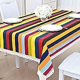SX-BBF Tischtuch Kleine Tisch Quadrat Quadrat Couchtisch Lang TV Kabinett Wohnzimmer Rectangular Baumwolle Leinen (Farbe : A, Größe : 120 * 180cm)
