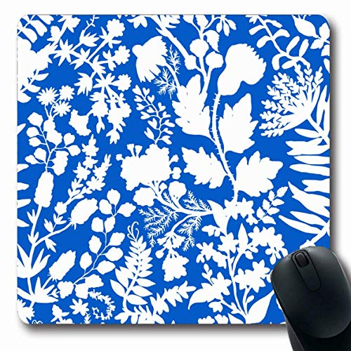Luancrop Mousepads Herbal Block Fantasy Flowers Natürliche Batik Swirl Bohemian Ethnic Floral Paisley Design Spitze rutschfeste Gaming Mouse Pad Gummi Längliche Matte -