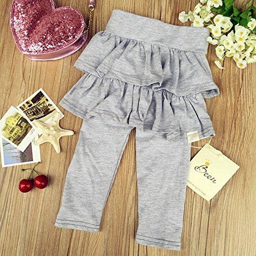 'Spritech (TM) Bambina New Fashion Autunno puro cotone Layered Tutù Dress, grigio