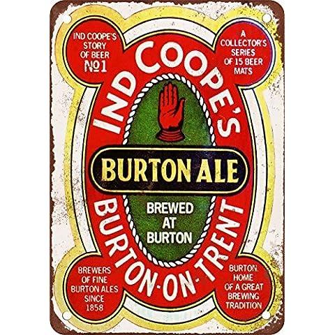 Burton ale Look Vintage Riproduzione in metallo Tin Sign 17,8x 25,4cm