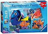 Ravensburger 09345 - Findet Dory Puzzle, 3 x 49 Teile